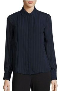 TOMMY HILFIGER NAVY SHEER BUTTON FRONT